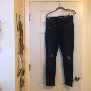 7 for all man high waist jeans